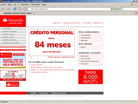 Hipotecas Santander Consumer Finance